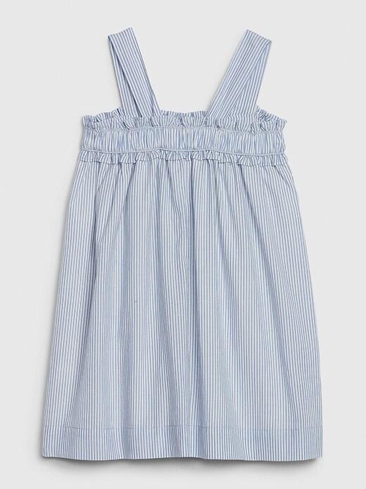 Toddler Pinstripe Ruffle Dress