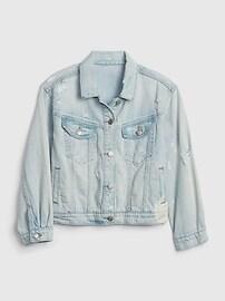 Oversize Cropped Denim Jacket