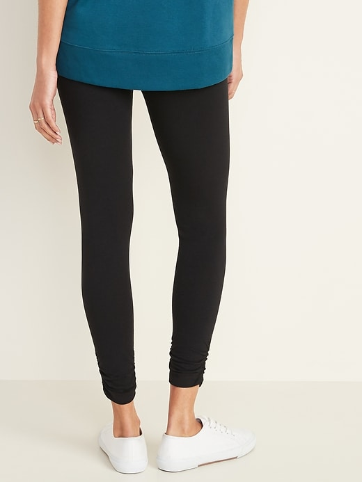 Mid-Rise Ruched Leggings for Women
