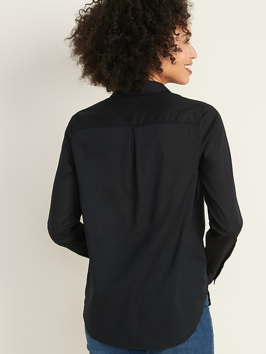 Soft-Washed Long-Sleeve Classic Shirt for Women