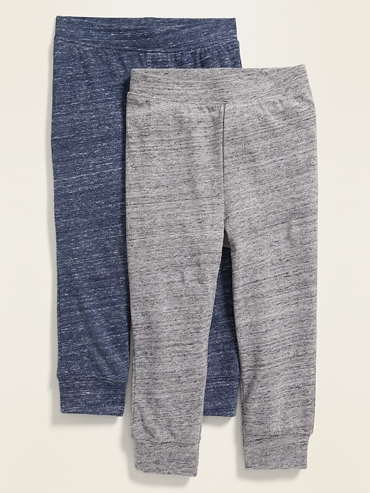 2-Pack Solid Jersey Joggers for Toddler Boys