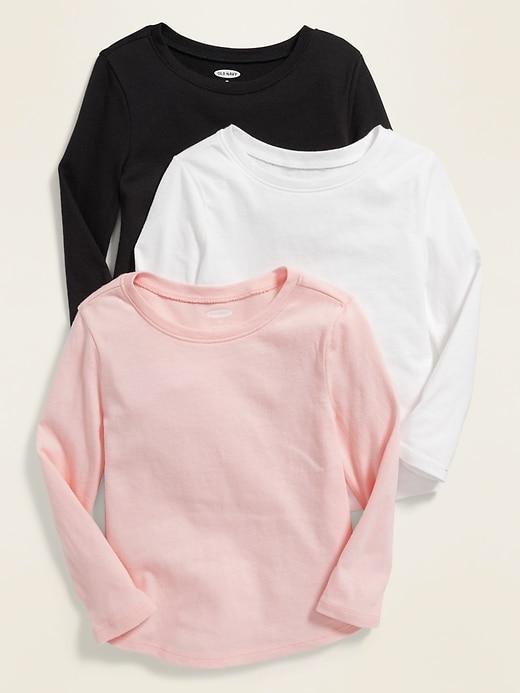 Long-Sleeve Tee 3-Pack for Toddler Girls