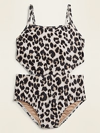 Side Cut-Out Swimsuit for Girls