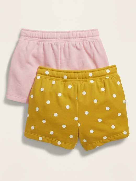 Pull-On French-Terry Shorts 2-Pack for Toddler Girls
