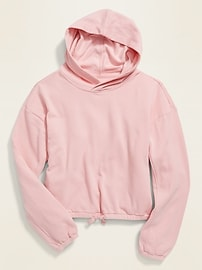 Cropped French Terry Pullover Hoodie for Girls