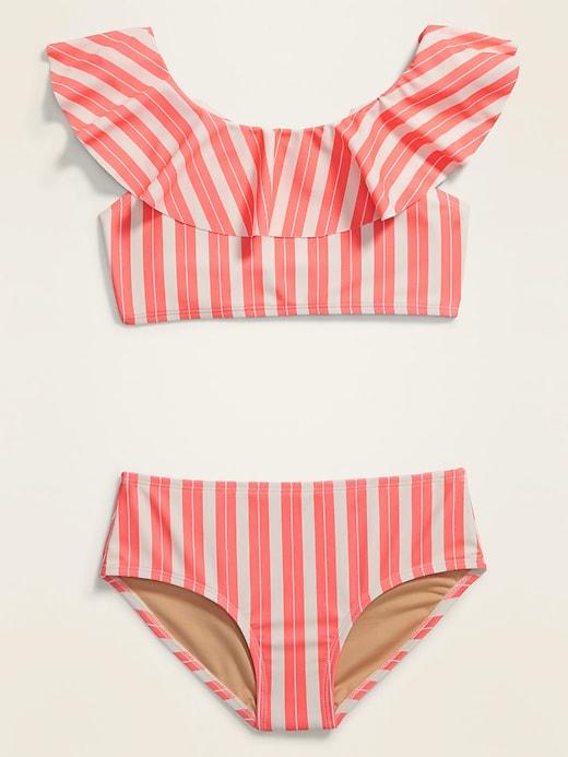 Ruffle-Trim Bikini for Girls