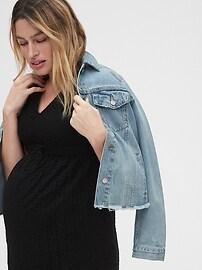 Maternity Eyelet V-Neck Dress