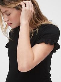 Maternity Ruffle Sleeve Shirt