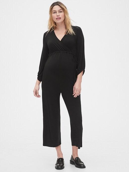 Maternity Wide-Leg Jumpsuit