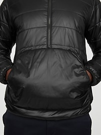 Reversible 1/2 Zip Puffer Jacket