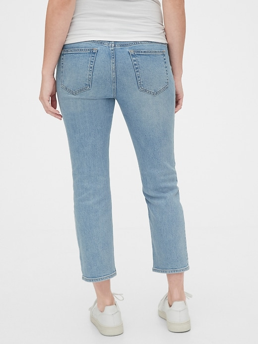 Maternity Full Panel Cheeky Straight Jeans