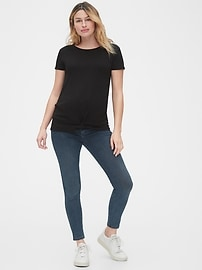 Maternity Knot-Front T-Shirt