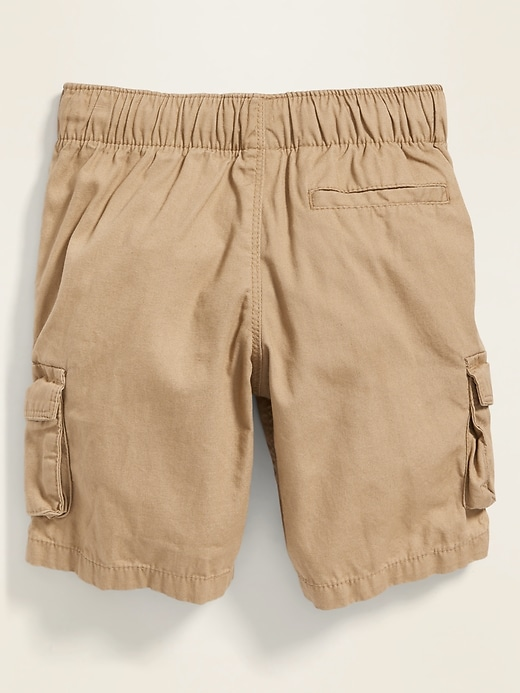 Functional-Drawstring Canvas Cargo Shorts for Toddler Boys