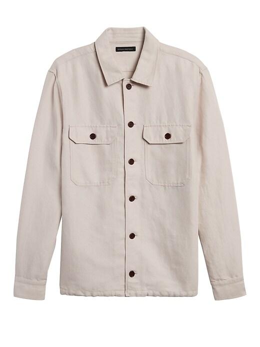 Linen-Cotton Coach's Jacket