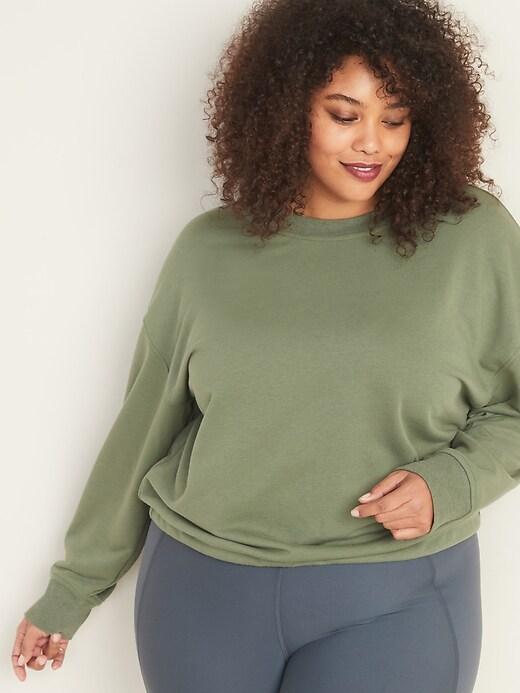 French Terry Tie-Back Plus-Size Sweatshirt