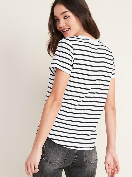EveryWear Striped Short-Sleeve Tee for Women