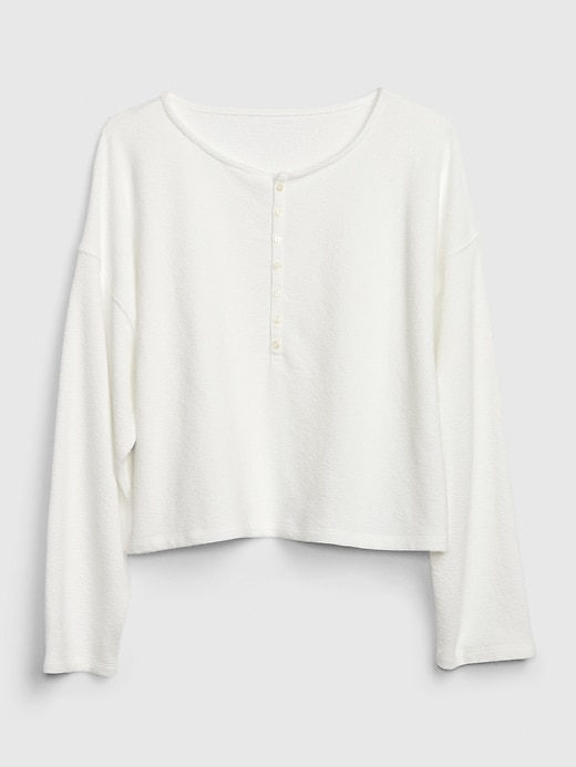 Cropped Lounge Top in French Terry