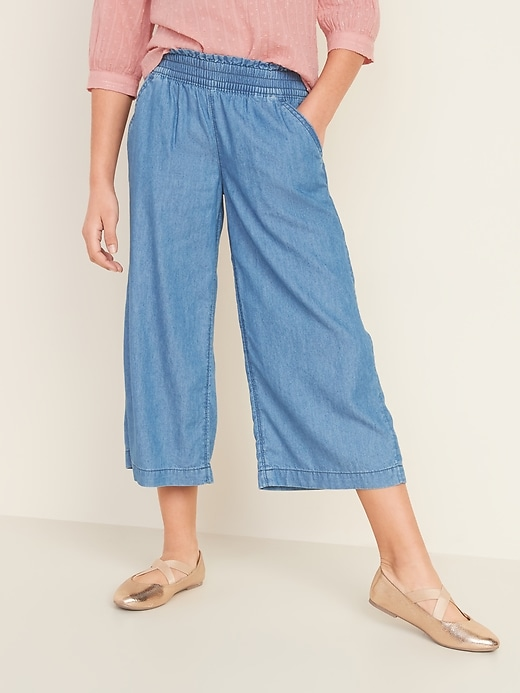 Pull-On Wide-Leg Pants for Girls