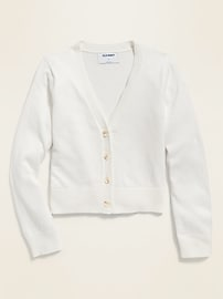 V-Neck Cardigan Sweater for Girls