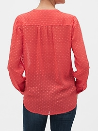 Drapey Classic Textured Blouse
