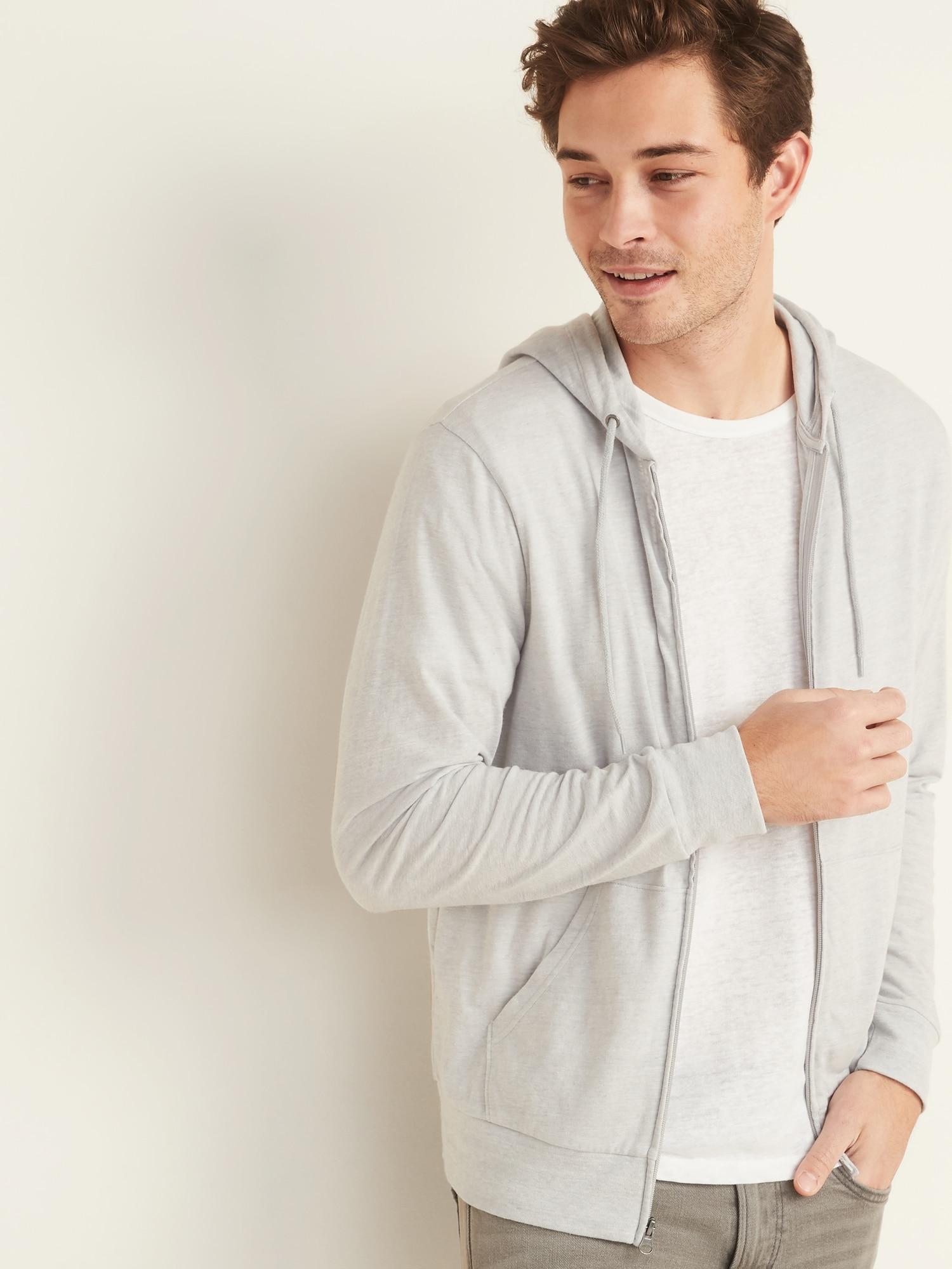 Soft-Washed Slub-Knit Zip Hoodie for Men