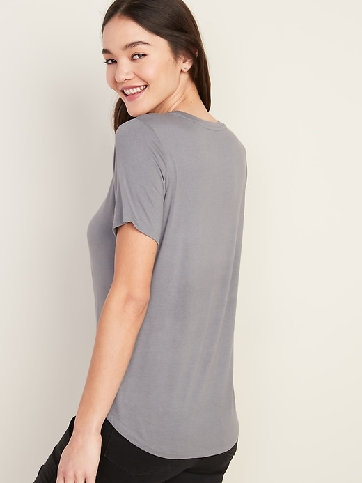Luxe Crew-Neck Tee for Women