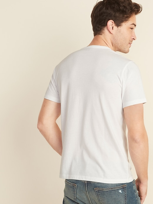 Soft-Washed Jersey Henley Tee for Men