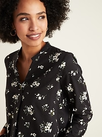 Printed V-Neck Top for Women