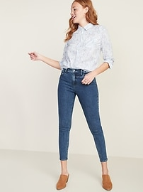 Ditsy-Floral Print Classic Shirt for Women