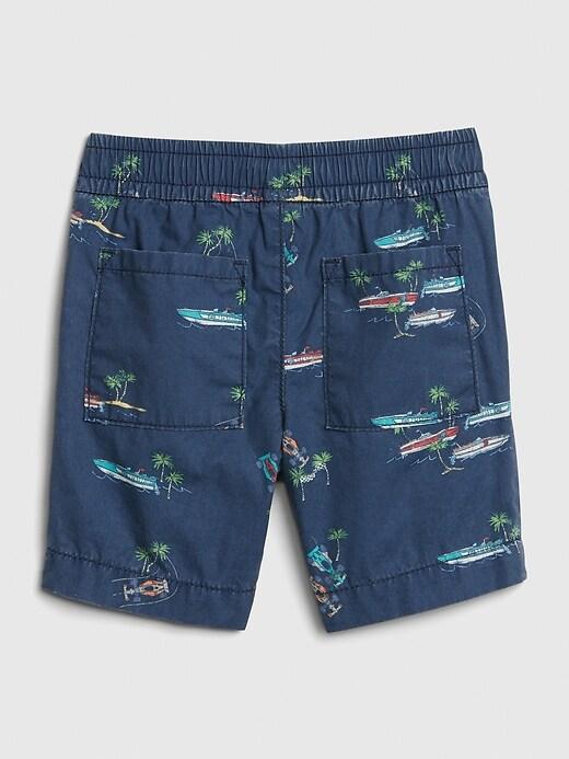 Toddler Print Poplin Pull-On Shorts