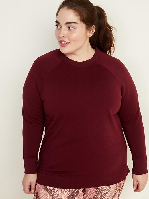 French Terry Plus-Size Tunic Sweatshirt