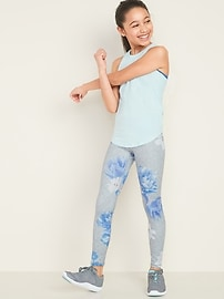 Mid-Rise Go-Dry Floral Elevate Leggings for Girls