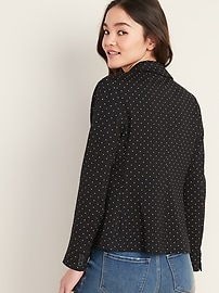Classic Ponte-Knit Blazer for Women