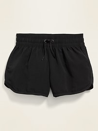 Dolphin-Hem Board Shorts for Girls