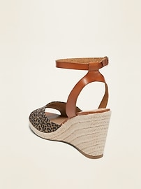 Faux-Suede Espadrille Wedge Sandals for Women