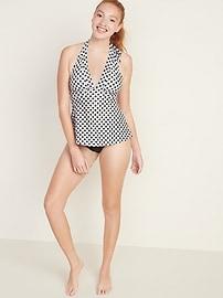 Peplum-Hem Tankini Swim Top for Women