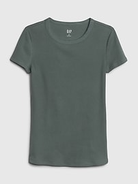 Ribbed Crewneck T-Shirt