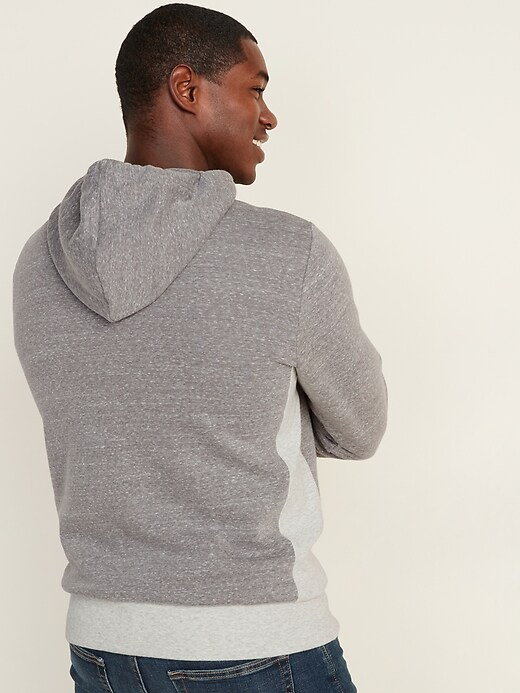 1/4-Zip Rib-Knit Side-Panel Hoodie for Men