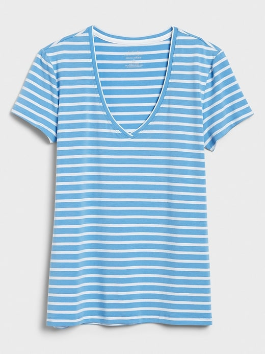 Timeless Stripe V-Neck T-Shirt