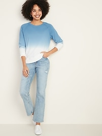 Relaxed Vintage Crew-Neck Sweatshirt for Women