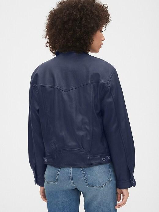 Cropped Leather Icon Jacket