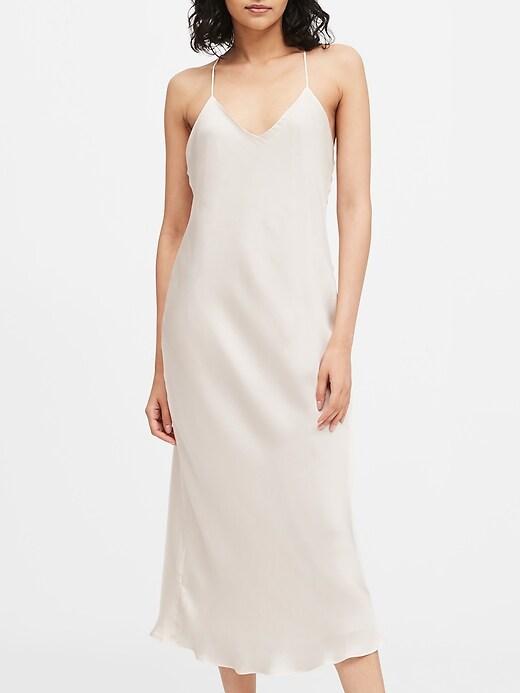 Petite Satin Slip Dress