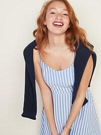 Striped Fit & Flare Cami Mini Dress for Women