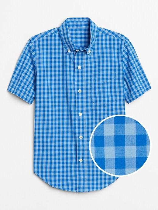 Kids Plaid Short Sleeve Shirt