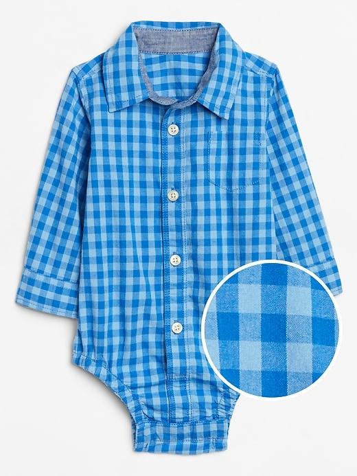 Baby Plaid Long Sleeve Bodysuit