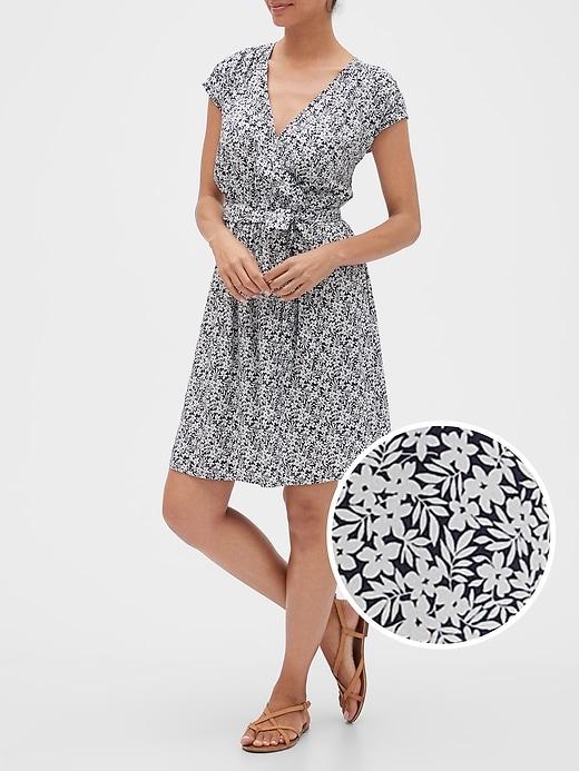 Tie-Belt Wrap Dress in Rayon