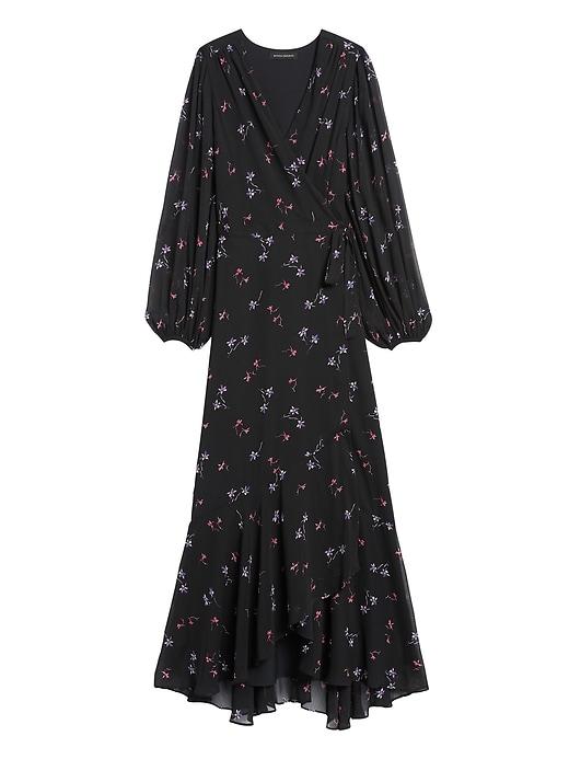 Petite Maxi Wrap Dress