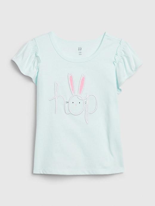 Toddler Bunny Graphic Flutter T-Shirt