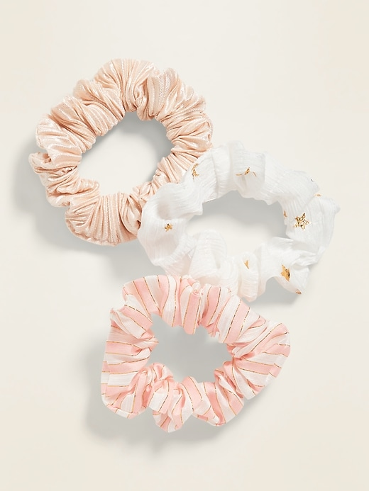 Hair Scrunchie 3-Pack for Girls