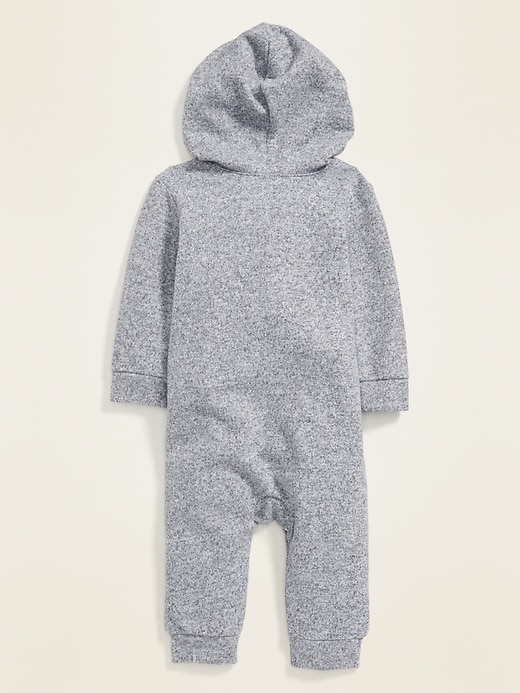 Cozy Plus-Knit Hooded One-Piece for Baby